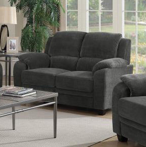Coaster Charcoal Fabric Color Loveseat