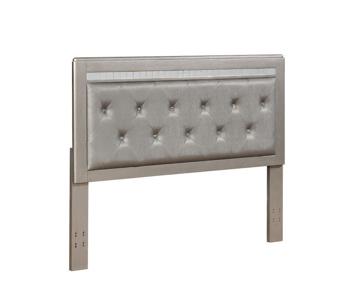 Homy Living Metallic Platinum Upholstered Eastern King Headboard