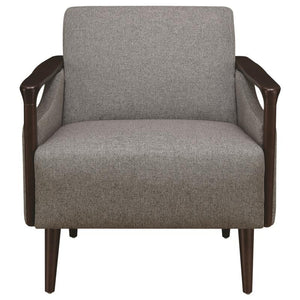 Grey Finish Contemporary Chair