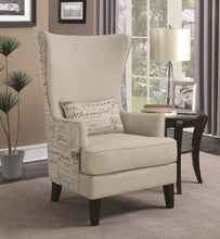 Load image into Gallery viewer, Coaster Cream Finish Contemporary Chair