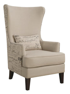 Cream Finish Contemporary Chair