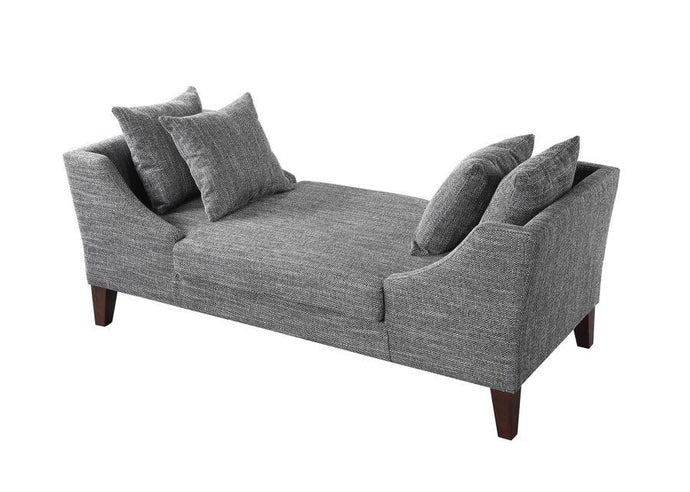 Grey Color Finish Double Chaise