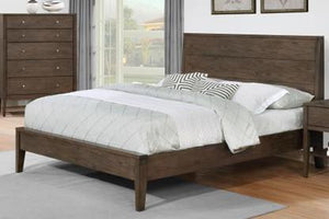 Lompoc Ash Brown Brushed Nicl Queen Bed