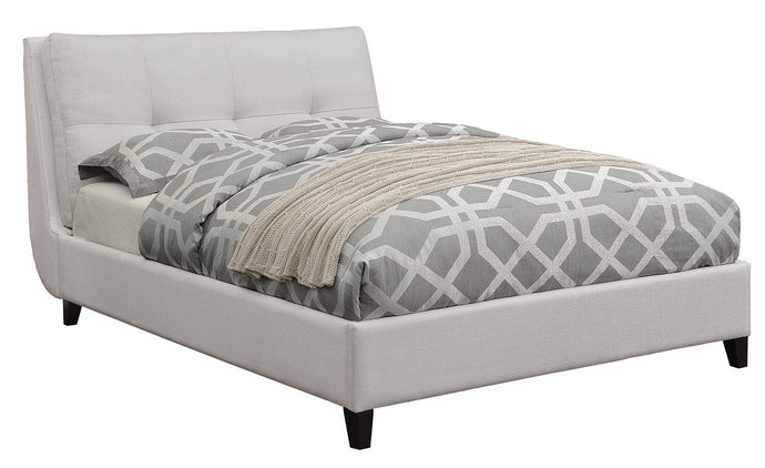 Coaster Amador Ivory Fabric Queen Upholstered Bed