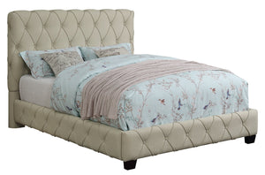 Homy Living Elsinore Beige Fabric Queen Upholstered Bed