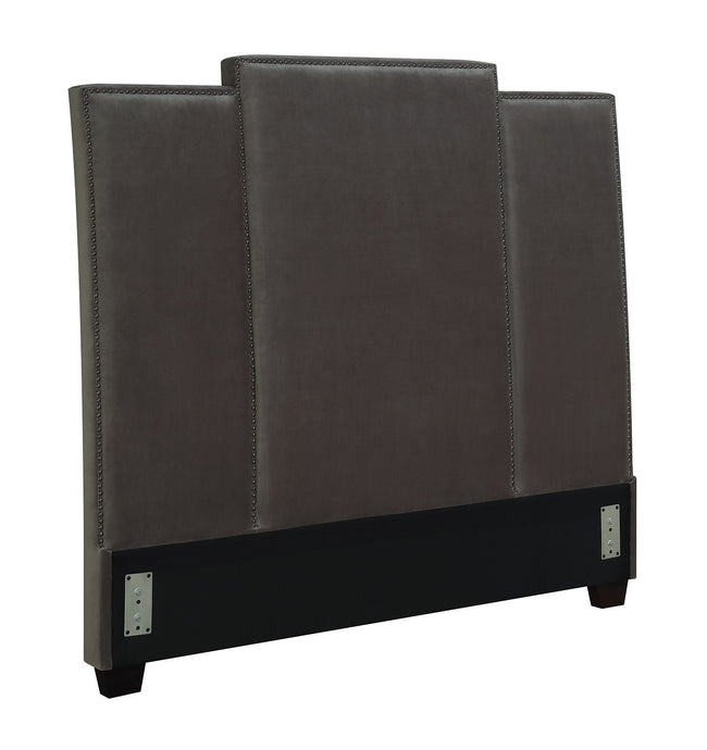 Lawndale Grey Velvet Full Headboard