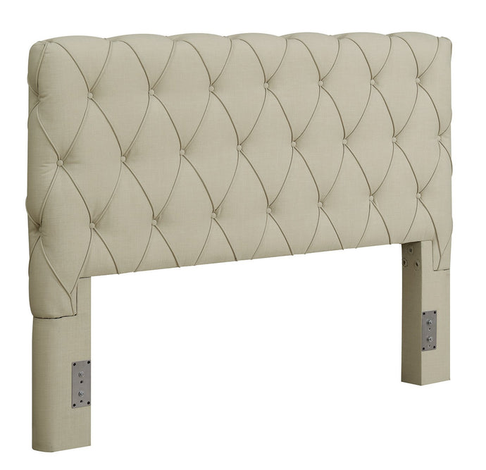 Elsinore Beige Fabric Eastern King Headboard
