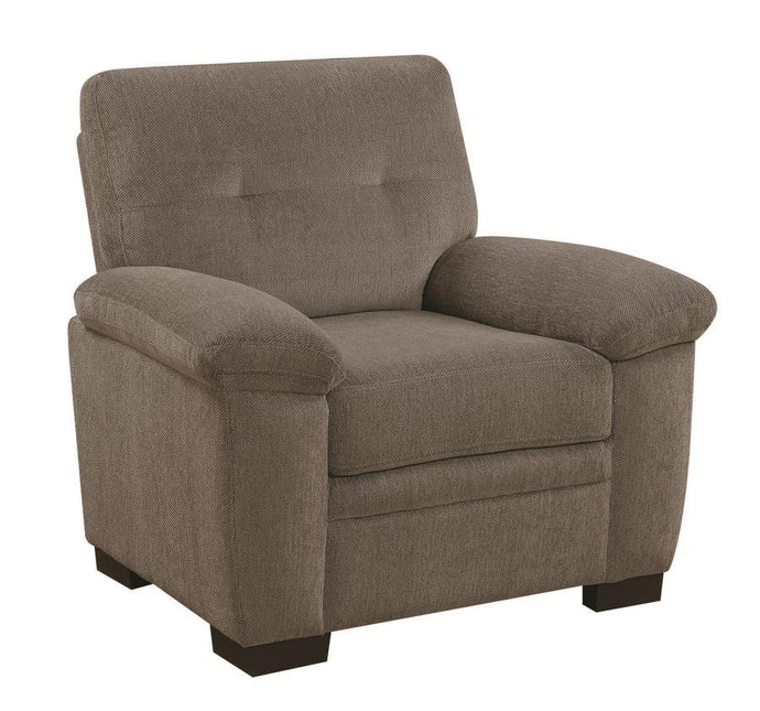FairBairn Oat Chenille Finish Recliner Chair
