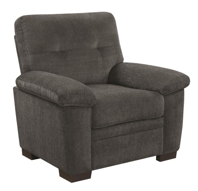 FairBairn Charcoal Chenille Chair
