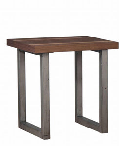 Coaster Walnut Wood And Metal Finish End Table