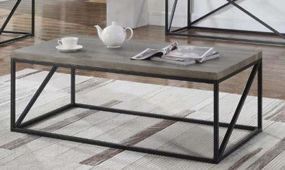 Industrial Sonoma Grey Metal Base Coffee Table