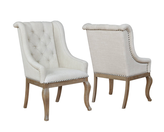Glen Cove Cream Fabric Arm Chair