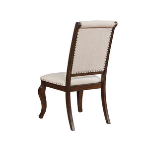 Homy Living Glen Cove Cream Fabric Antique Java Leg 2 Piece Side Chair