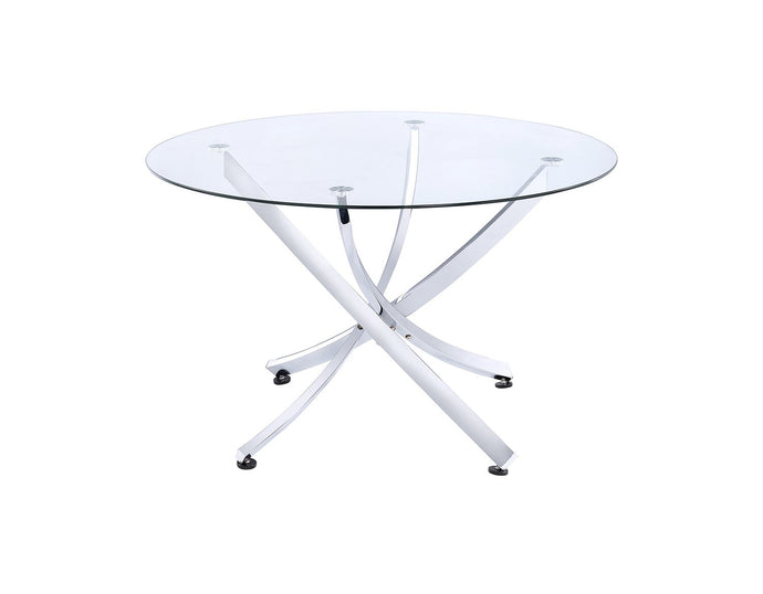 Cudahy Tempered Glass Top Dining Table