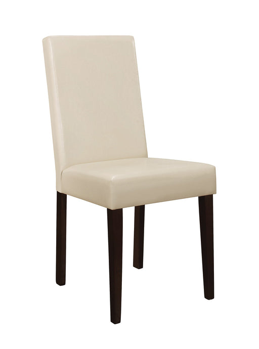 Clayton Cream Fabric Cappuccino Leg Side Chair