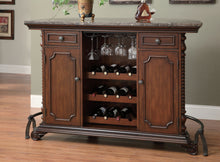 Load image into Gallery viewer, Coaster Warm Brown Antique Brass Bar Unit And Bar Stool