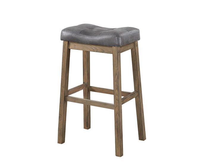 Two Tone Brown Leatherette Bar Stool