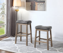 Load image into Gallery viewer, Coaster Two Tone Brown Leatherette Counter Height Stool Set Of 2