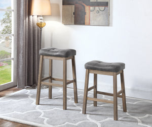 Coaster Two Tone Brown Leatherette Counter Height Stool Set Of 2