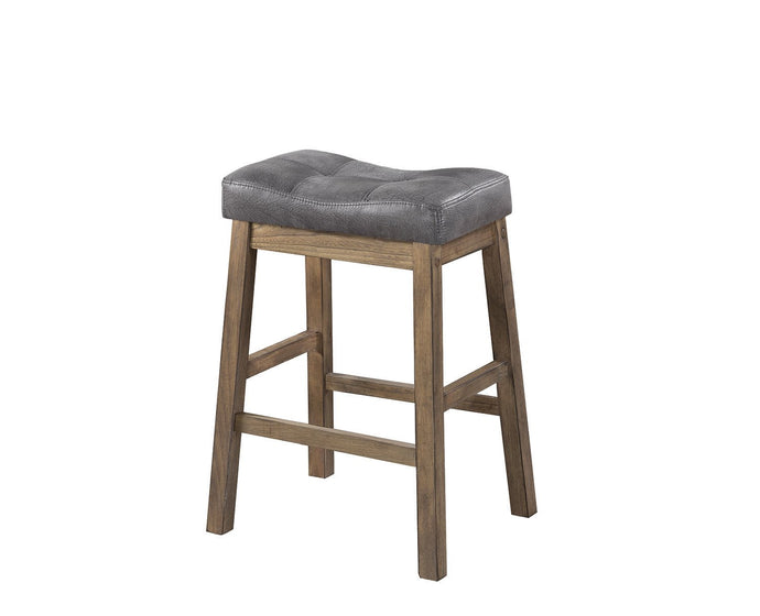 Two Tone Brown Leatherette Counter Height Stool