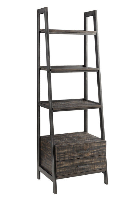 Deponte Weathered Gunmetal With Burnished Cognac Bookcase