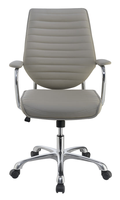 Coaster Taupe Leatherette With Aluminum Office Chair