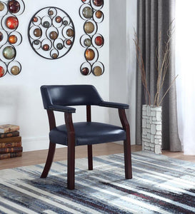 Coaster Blue Leatherette And Cappuccino Wood Office Chair
