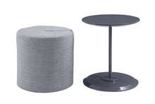 Load image into Gallery viewer, Coaster Grey High Gloss And Grey Finish Accent Table with Ottoman
