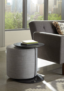 Coaster Grey High Gloss And Grey Finish Accent Table with Ottoman