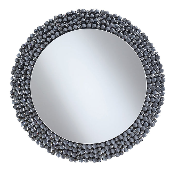 Contemporary Style Grey Finish Mirror