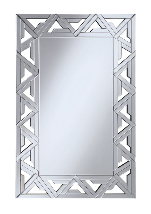 Contemporary Style Clear Finish Mirror