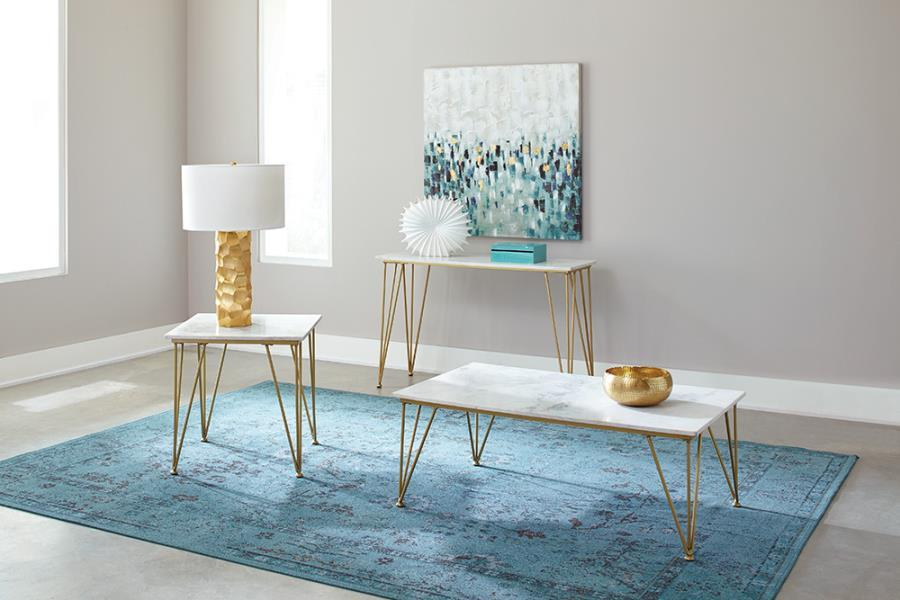 Becca Coffee Table With Marble Top