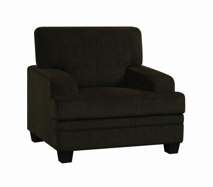 Coaster 508383 Griffin Modern Style Brown Chenille Chair