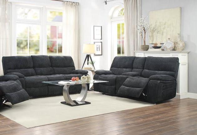 Perry Dark Grey Fabric Sofa and Loveseat Set