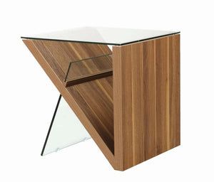 Coaster 721377 Contemporary Light Walnut End Table