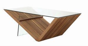 Coaster 721378 Contemporary Light Walnut Coffee Table