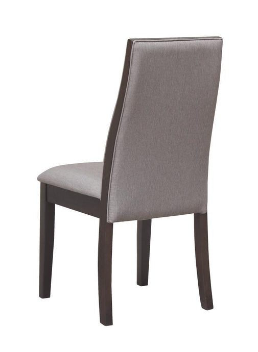 Homy Living Spring Creek Grey Fabric Finish 2 Piece Dining Side Chair