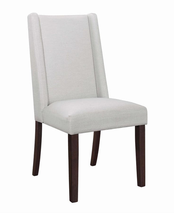 Homy Living Jibby Beige Fabric Finish 2 Piece Dining Chair