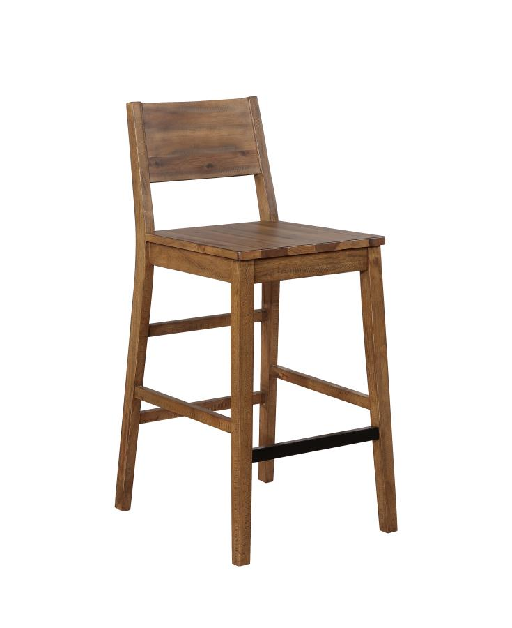 Coaster Tucson Natural Wood Finish 2 Piece Bar Stool