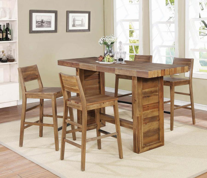 Coaster Tucson Natural 5 Piece Rustic Bar Table Set