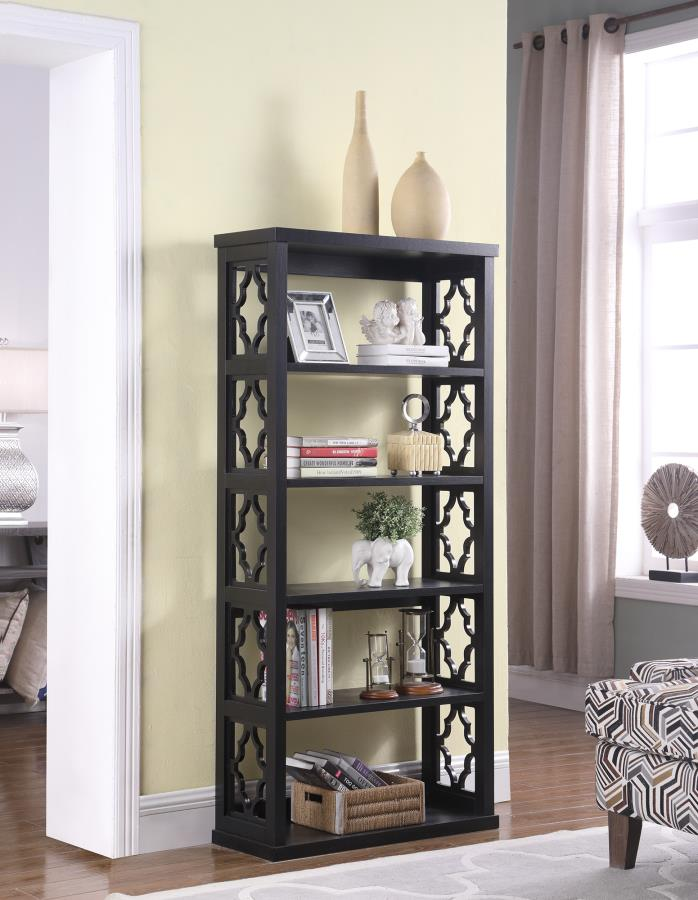 Coaster 802577 Black Finish Bookcase