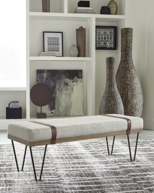 Upholstered Linen-li Fabric Bench