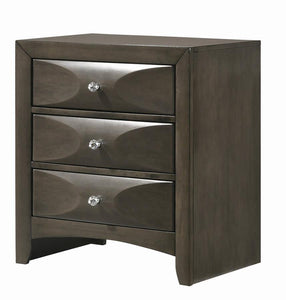 Coaster 215882 Salano Mod Grey Wood 3-Drawer Nightsatnd