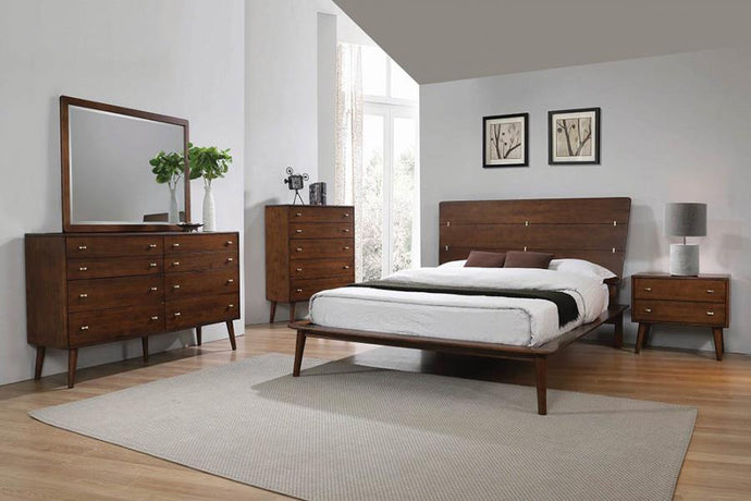 Coaster 222601Q Wenham Burnt Sugar 4 Piece Queen Size Bedroom Set
