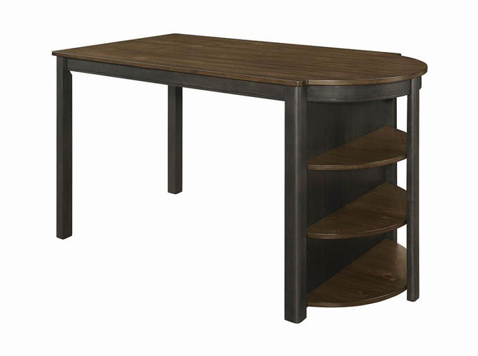 Coaster Clarksville Transitional Charcoal Counter Height Table