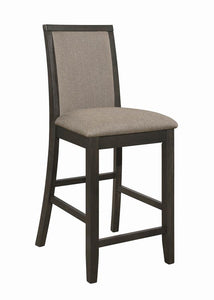 Coaster Clarksville Transitional Charcoal Counter Ht. Chair Set of 2