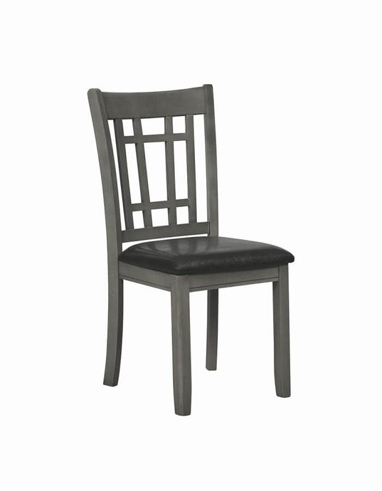 Coaster Lavon Faux Leather Grey Dining Chair Set of 2