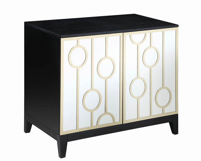 Contemporary Black And Gold Dining Server