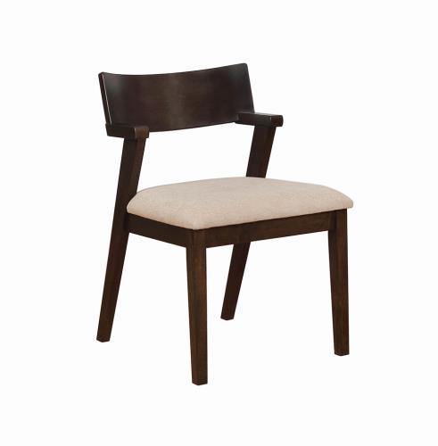 Homy Living Jarmen Light Brown Wood Finish 2 Piece Dining Chair