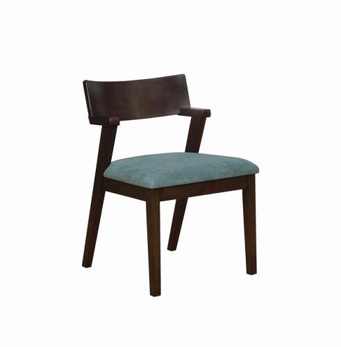 Homy Living Jarmen Teal Fabric Finish 2 Piece Dining Chair